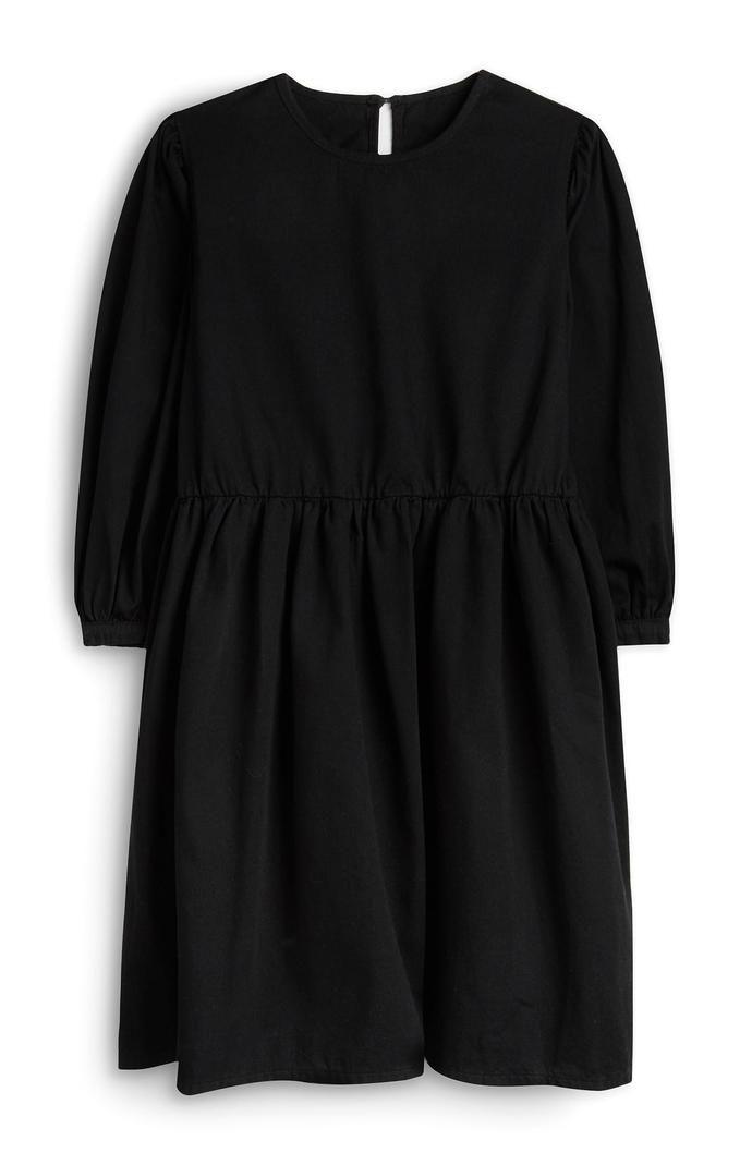 Vestido Primark negro con mangas abombadas