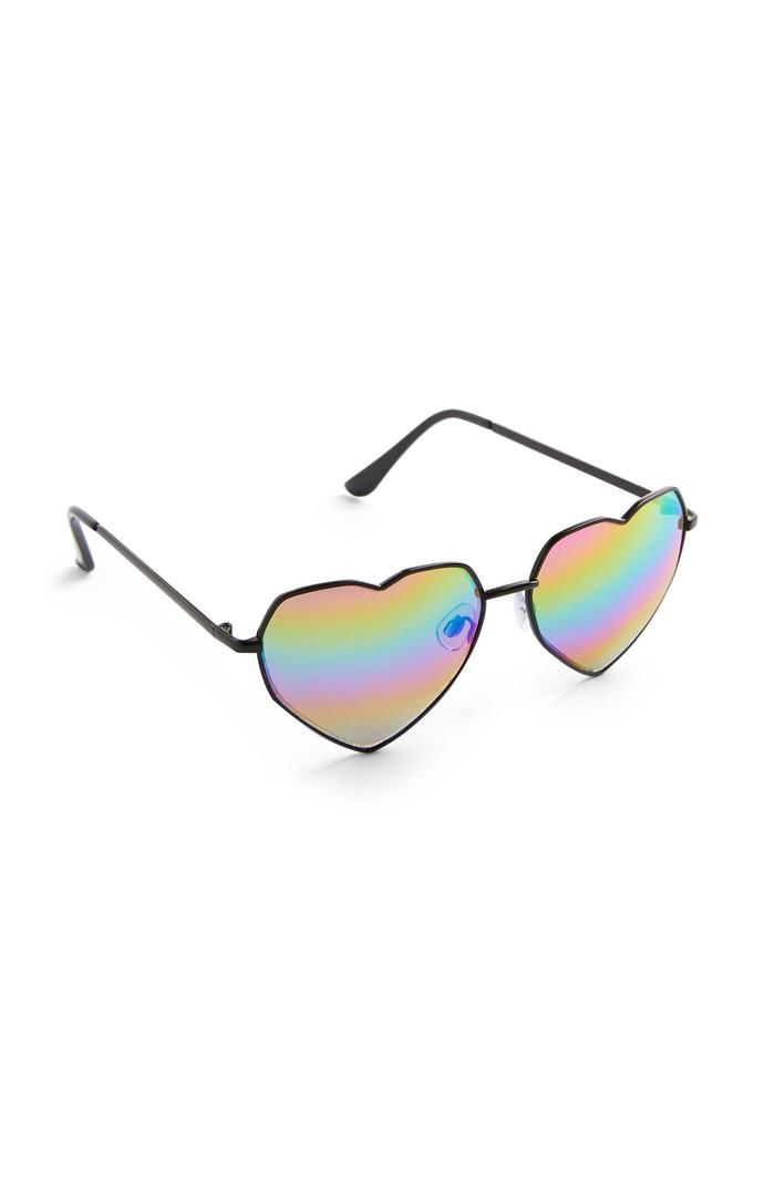 Gafas de sol Primark de corazones con arco iris