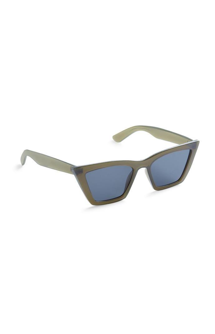 Gafas de sol Primark estilo ojo de gato cuadradas verdes