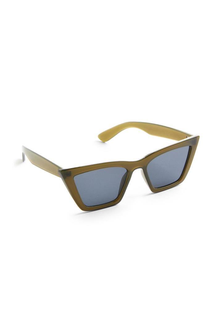 Gafas de sol Primark estilo ojos de gato cuadradas verdes