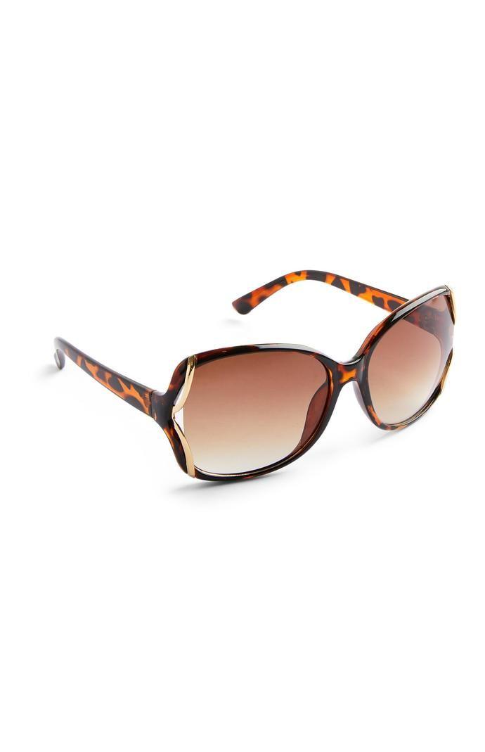 Gafas de sol Primark extragrandes marrones de carey
