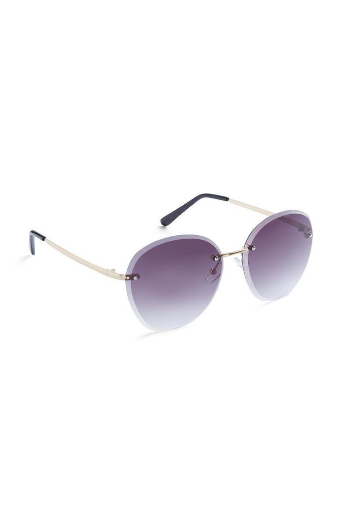 Gafas de sol Primark moradas con degradado sin montura