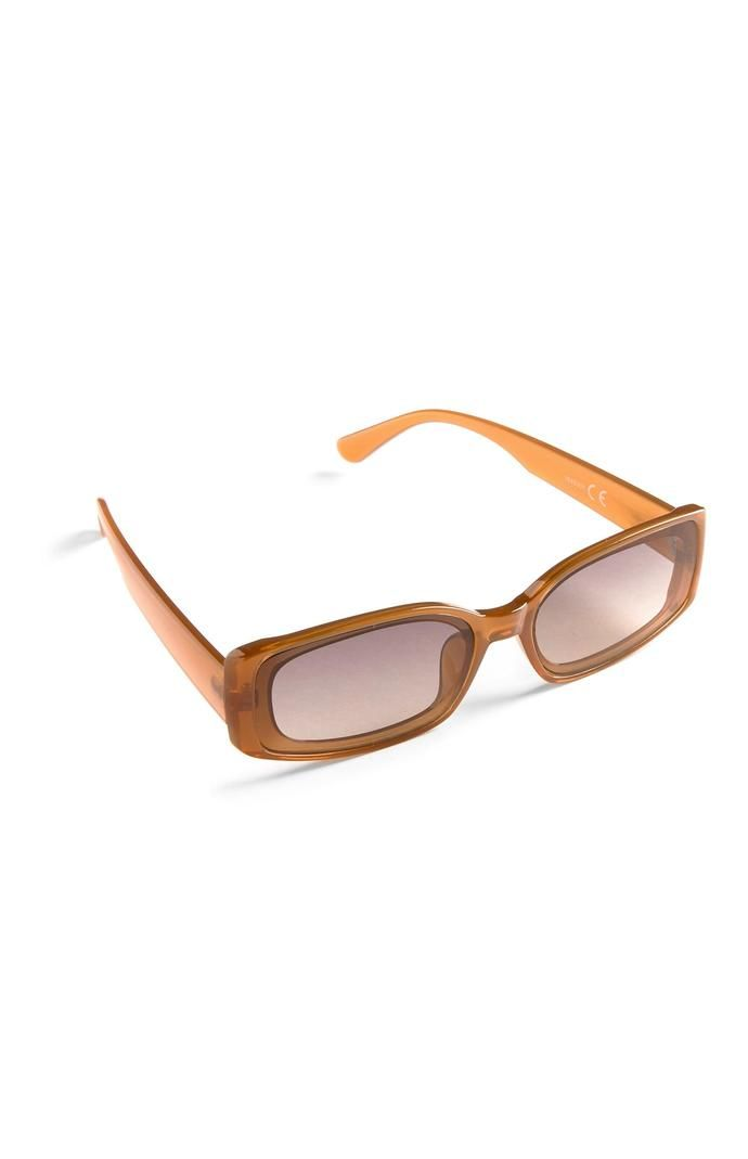 Gafas de sol Primark rectangulares finas naranjas