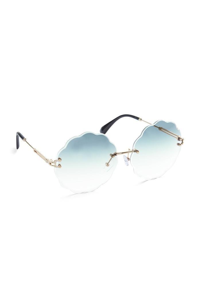 Gafas de sol Primark redondas azules con borde festoneado