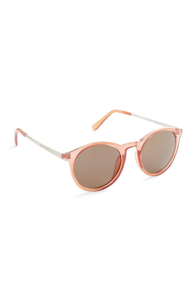 Gafas de sol Primark redondas estilo preppy color melocotón