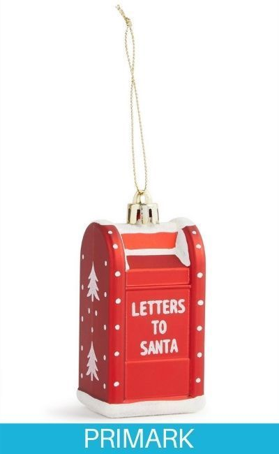 Adorno navideño de buzón de Papá Noel Primark