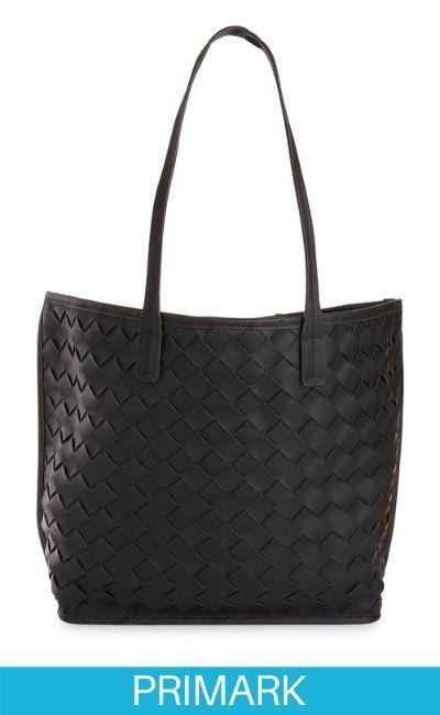 Bolso shopper tejido negro en Primark