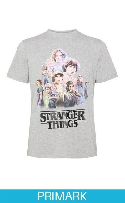 Camiseta gris de Stranger things en Primark