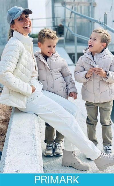 Chaqueton a tono abrigos en familia de primark
