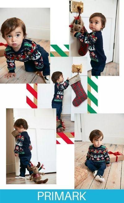 Conjunto de primera navidad en Primark