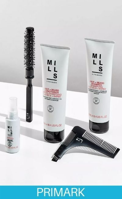 Cuidado del cabello Joe Mills X Primark una gama de aseo masculino