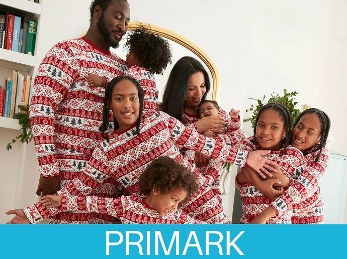 Familia en pijamas primark