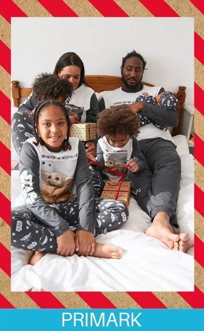 Familia en pijamas de Yoda Primark