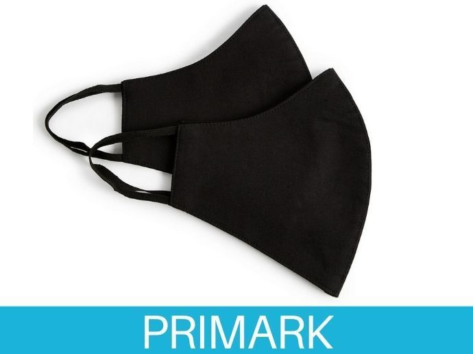 Pack de 2 mascarillas negras en primark