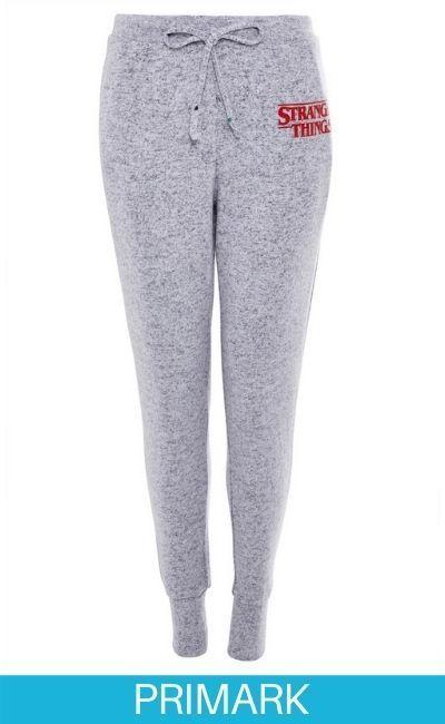 Pantalón de pijama ultrasuave gris de Stranger Things en primark