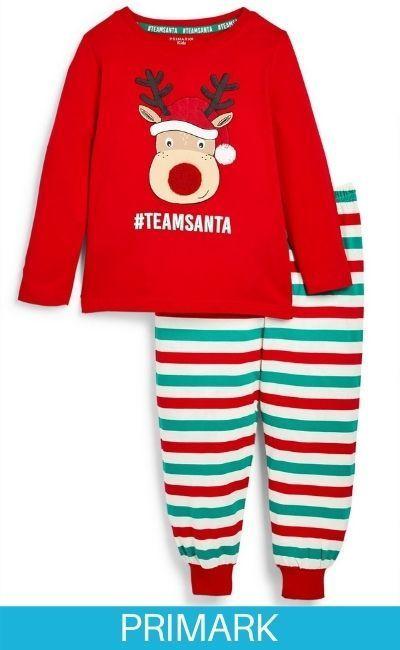 Pijama navideño con estampado de reno