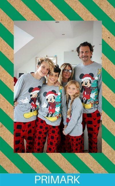 Pijamas navideñas para familias en primark online