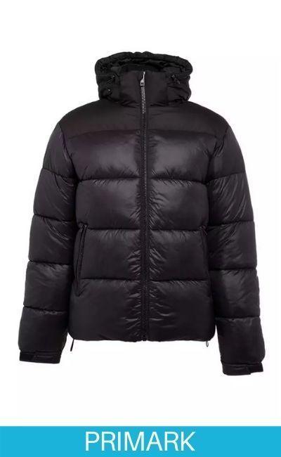 Plumifero abrigo de hombre en catalogo Primark