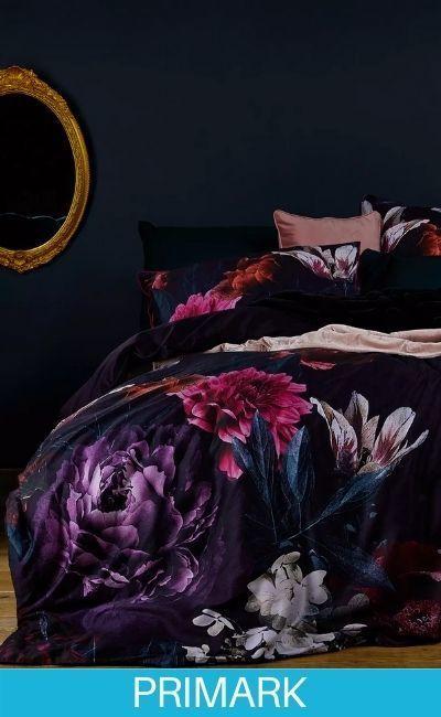 Ropa de cama de flores extragrande primark