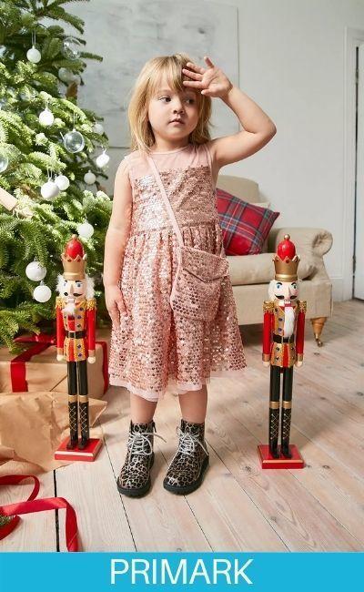 Ropa de navidad de lentejuelas para niña en primark