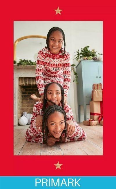 toda la familia en pijamas primark