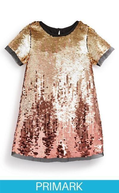 Vestido de fiesta con degradado de color para niña pequeña en primark