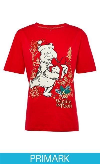 Camiseta navideña roja de Winnie the Pooh Primark