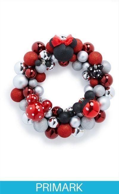 Corona de bolas de Navidad de Minnie Mouse Primark