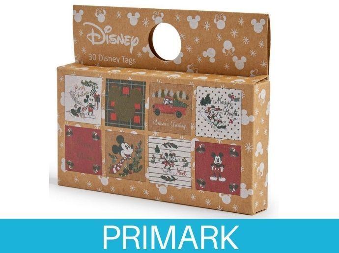Pack de 30 etiquetas de regalo navideñas de Mickey y Minnie Primark