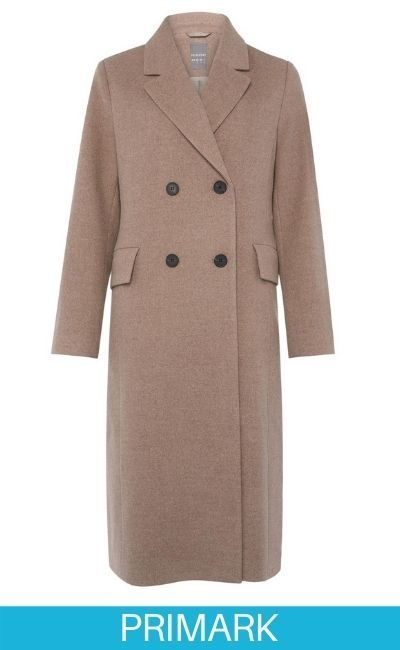 Abrigo elegante largo beige Primark