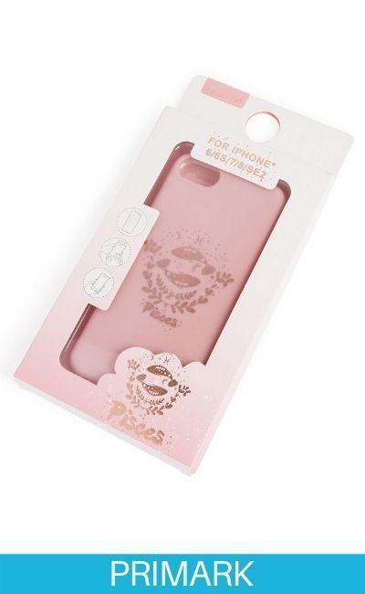 """Carcasa para el móvil de color rosa con estampado """"Pisces"""" Primark"""