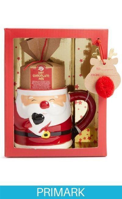 JJuego de taza de chocolate caliente de Papá Noel Primark