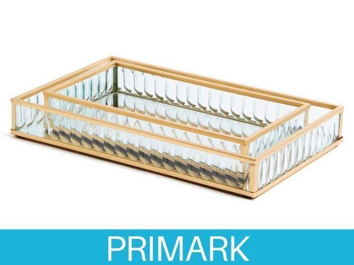Pack de dos bandejas de vidrio acanalado Primark