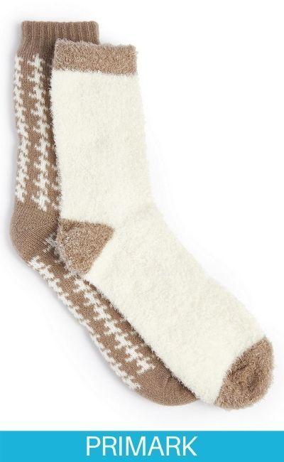 Pack de 2 pares de calcetines de lujo con infusión de aloe Primark